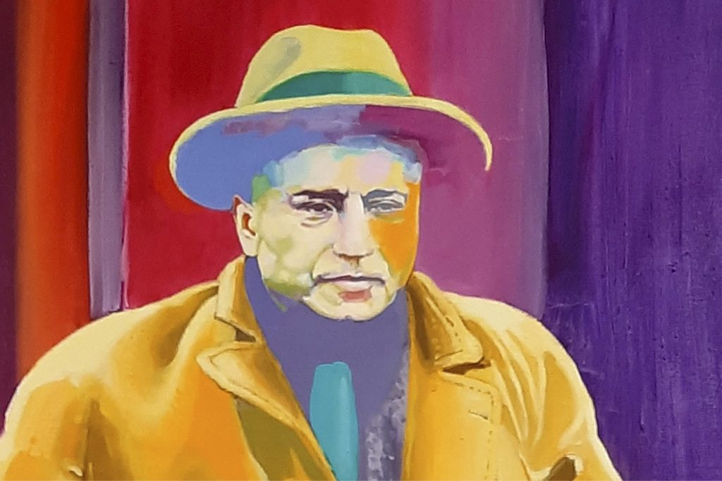 Gemaltes Portrait von Max Braun. Künstler: Armin Rohr